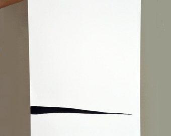Minimal ink abstract art painting on paper linear art ink for Minimal art venezuela