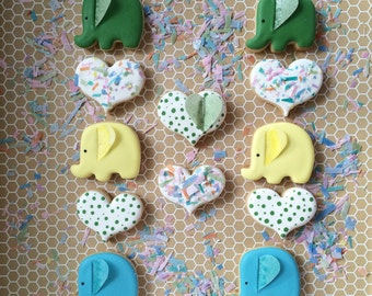 MINI COOKIES Animal, Elephant Hearts Sugar Cookies
