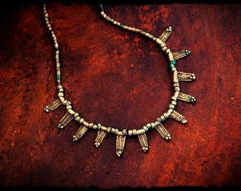Old Ethiopian Silver Beads Necklace
