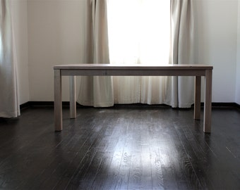 parsons dining table rustic solid wood table reclaimed wood table