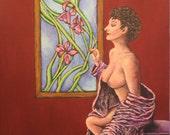 Painting Erotic Woman Adu...