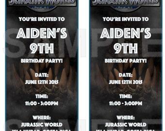 Jurassic World Invitations (color)