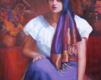 "original oil painitng-gypsy princess-24""x18"""