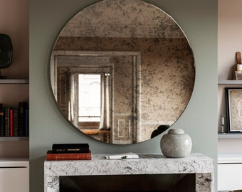 Antiqued Wall Mirror Antiqued Glass Mirror Custom Antiqued