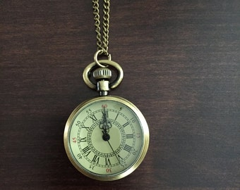Pocket Watch Necklace - Watch Necklace - Vintage Necklace - Pocket Watch - Jewellery - Wedding Jewelry - Wedding Birthday Bridesmaid Gift