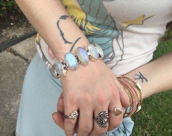 Moonstone Bracelet June Birthstone Natural Gemstone Statement Piece