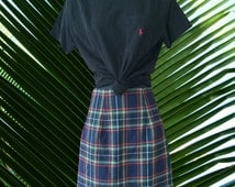 RAMPAGE skirt plaid mid length pencil high waist 90's clueless