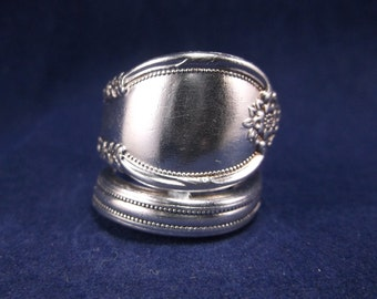"""Spoon Ring 1948 """"Remembrance"""" Handmade Spoon Jewelry Size 7.5"""