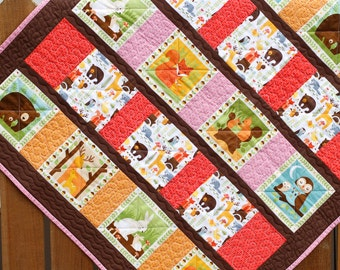 Baby Quilt Riley Blake Twice As Nice By Sassystitchinsisters