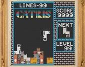 Cat Tetris - Cross Stitch Pattern - Downloadable PDF