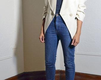 80's Beige fitted blazer