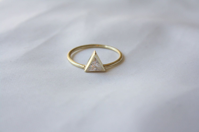 triangle ring triangle swarovski engagement ring trillion