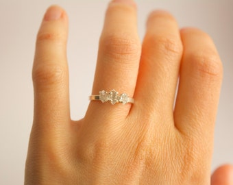Sterling Silver Herkimer Diamond Ring. Herkimer Ring. Herkimer Diamond Ring. Herkimer Diamond Engagement Ring. Sterling Silver Herkimer Ring