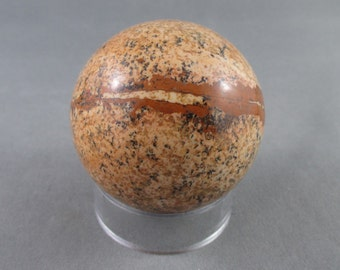 Picture Jasper Sphere - Healing Crystals and Stones, Stone Sphere, Positive Energy, Polished Rocks, Grounding Stones, Reiki Healing (T176)