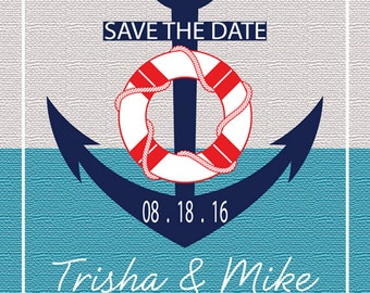 25 Classic Nautical Save The Date Card