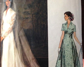 Vogue 1156 - Couture Wedding Dress and Bridesmaid - Size 14