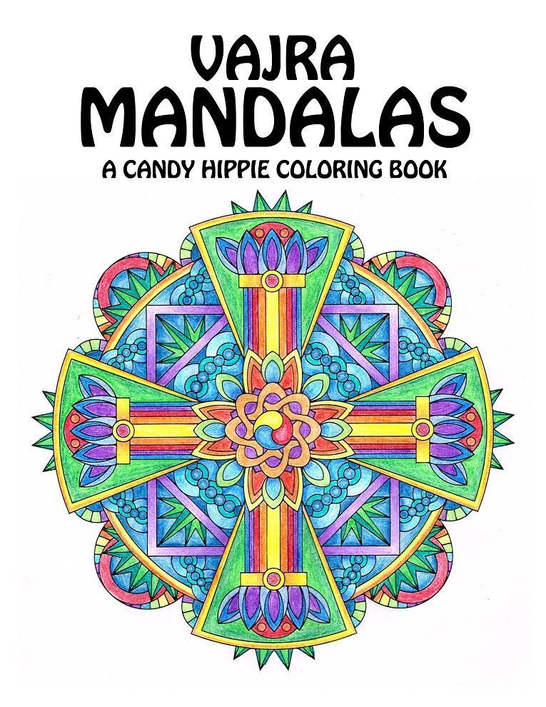 vajra mandalas adult coloring book printable mandala coloring book for adults and big kids - Mandala Coloring Books For Adults