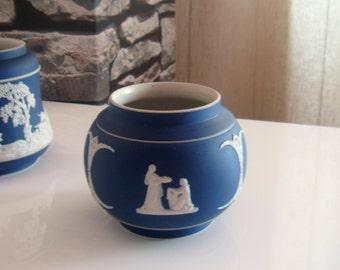 Adams Dark Blue Jasperware Vase