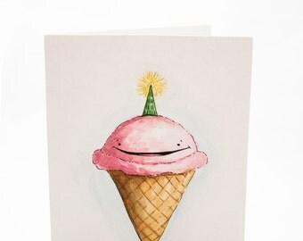 Birthday Cone//Ice Cream Card