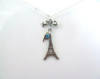Eiffel Tower Necklace Paris Necklace Charm Eiffel Tower Paris Jewelry