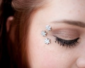 Ice Princess Eye Decals - Snowflake Winter Wedding - Snow Queen Costume Makeup - Snowflake Body Jewelry