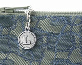 Personalize sewing purse hardware - gifts for bridesmaids with special details - letter zipper charm momento