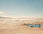 """Pool Photography - South America Travel - Andes Mountains - Nature Landscape - Bolivia Desert - Nautical Beach Decor - """"HOT SPRINGS"""""""