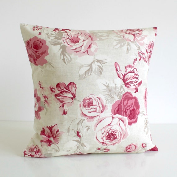 Shabby Chic Decorative Pillows : Shabby Chic Throw Pillow Cover Decorative Cushion by CoupleHome