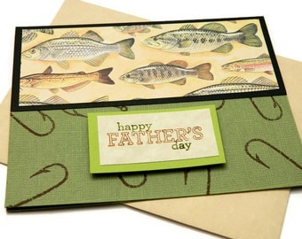 Fathers Day Cards - Happy Fathers Day - Fishing Themed - Greetings Card Him - Husband Gift - Gift For Dad - Card For Grandfather