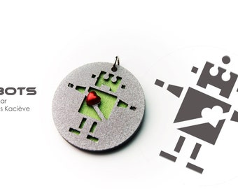 My robot pendant - Robot with heart