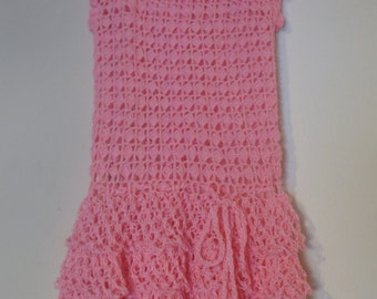 Light pink crochet dress