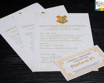 INSTANT DOWNLOAD Hogwarts Acceptance Letter and Hogwarts Express Ticket - Digital .pdf file