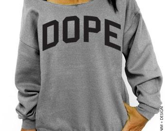 Dope - Gray Slouchy Oversized Sweatshirt