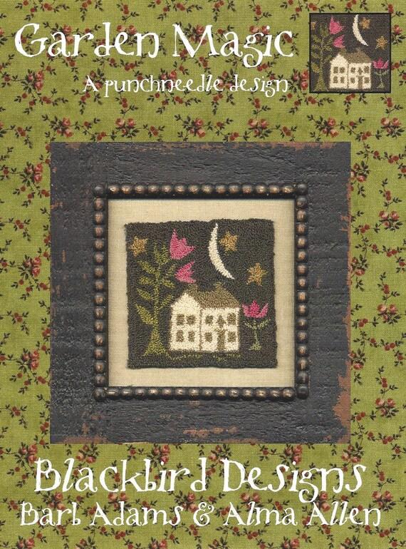Blackbird designs garden magic needlepunch pattern card for Blackbird designs tending the garden