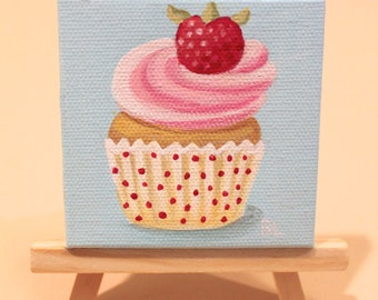 Original Vanilla Cupcake with Strawberry on Top