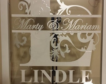 """Personalized Family Name Frame 11''x14"""""""