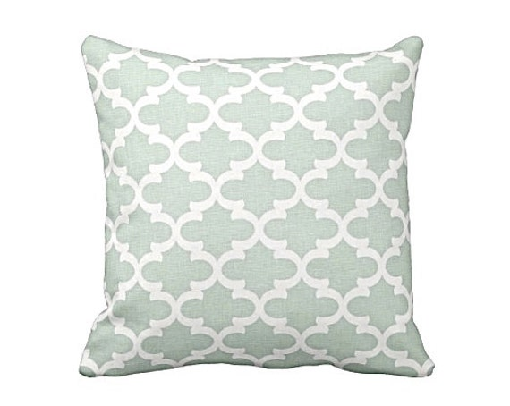 Blue Throw Pillow Cover Light Blue Pillow Cover Moroccan