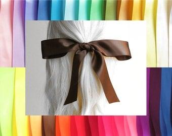 "HAIR RIBBON-1.5"" Satin Hair Ribbons (36"" Long)-Hair Ties, Hair Bows, Women's Hair Ribbons, Girl's Hair Ribbons, Hair Accessories, Boho Chic"
