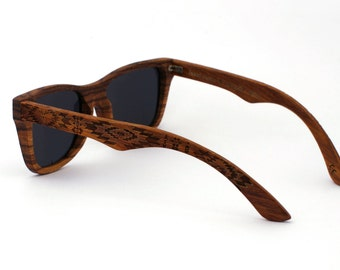 SALE Zebra Wood Sunglasses Wayfarer Wooden Polarized Eyewear for Man Woman WOODEER