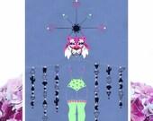 Tiger Girl A4 Print | A4 Matte Print | A4 Art Print | Tiger Print | Tiger Art - FREE SHIPPING