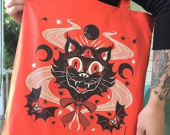 Curse of the Black Cat tote bag (glow in the dark)