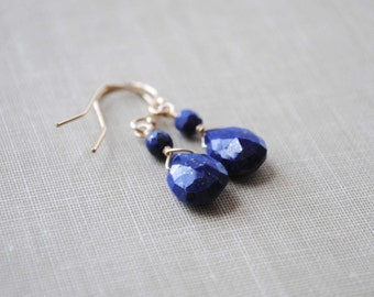 Lapis Earrings, Lapis Lazuli Earrings, Blue Lapis Earrings, Lapis Jewelry