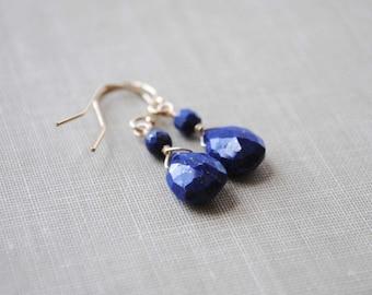 Lapis Earrings, Lapis Lazuli Earrings, Blue Lapis Earrings, Lapis Jewelry