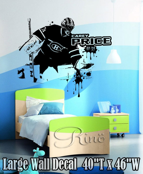 Carey Price Large Vinyl Wall Decal Sticker Montreal Canadiens