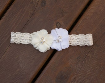 Wedding Garter,Single Bridal Garter, Single Lace Garter,Single,Flower Garter,Chiffon Flower Garter,Lace Wedding Garter,Peach Wedding Garter
