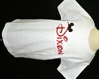 Disney Boy's Monogrammed Personalized Shirt with Mickey Mouse Ears Monogram Topper