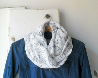 Cotton scarf, paisley scarf, lightweight scarf, infinity scarf, summer accessories