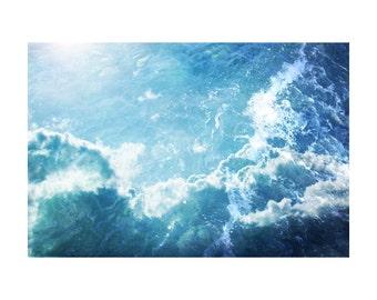 Ocean art, water photography, abstract ocean art, blue photography, abstract sky art, teal wall art, ocean photography, nautical art Oceania