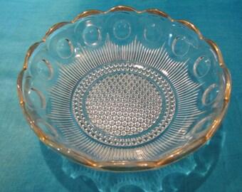 Bartlett Collins Manhattan Gold Trim Serving Bowl