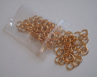 Gold Tone Jump Rings! Jewelry Supply! Findings! 9 MM x 130 Count!